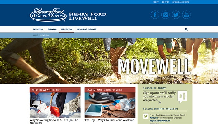 Henry Ford Health System – LiveWell | Thread Marketing Group
